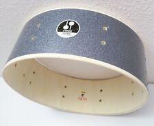 """Sonor Safari 14"""" Snare Drum w/ Badge, Black Galaxy Sparkle [Jungle/Safari/Bop]"""