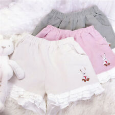 Pants VINTAGE Japanese Mori Girls Sweet Kawaii Women's Shorts Trousers Leisure#