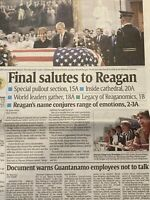 Funeral of 40th US President Ronald Reagan June 11 2004 Collectible Newspaper