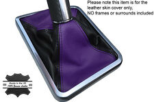 BLACK & PURPLE LEATHER SKIN MANUAL SHIFT BOOT FITS DODGE CHALLENGER 2008-2014
