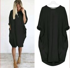 Vokuhila Lagenlook Tunika Longshirt Minikleid Jersey Schwarz 44 46 48 *NEU*