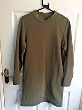 Jack Wills Green Khaki Jumper Dress Pockets Size 8 UK