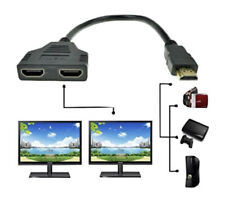 1X HDMI Splitter Adapter HDTV 1 In 2 Out 240MHz 2160P 4K Male To 2 Female Port