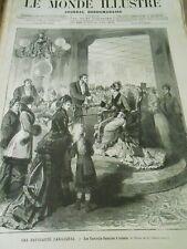 Gravure 1879 - Nouveauté Parisienne Les Fauteuils Balances à Tickets