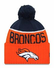 Denver Broncos Players Sideline Sports Knit Beanie Cap Hat NFL New Era