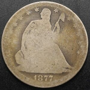 1877-S Seated 50c (Half Dollar) Motto - About Good