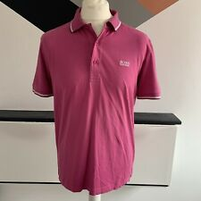 Hugo Boss Camisa Polo Tamaño Grande Rosa | Moderno Fit Smart Casual Original Con Cuello