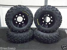 "POLARIS SPORTSMAN 25"" BEAR CLAW ATV TIRE- ITP BLACK ATV WHEEL KIT COMPLETE"