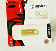 Kingston DataTraveler GE9 8GB USB 2.0 Flash Drive (Gold)