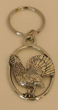 Fine English Pewter Capercaillie Keyring Key Chain Bird, Game