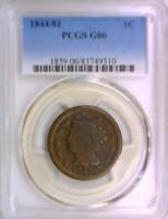 1844/81 Large Cent PCGS G-06