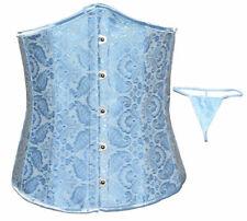 Classical BLUE Pattern underbust corset-N102-MEDIUM