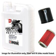 Kawasaki ZX-12R Ninja ZX1200B3H 2004 Ipone R4000 RS 10w40 Oil and Filter Kit