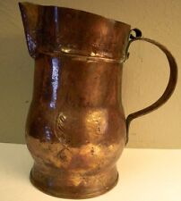ANTIQUE-FRENCH COPPER-JUG-PITCHER-DECANTER MARKED 1867 Hand Hammered