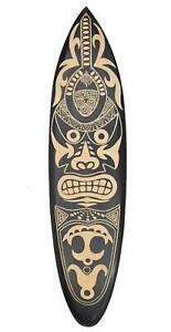 Maori Deko Surfboard 100cm Surfbrett Südsee Neuseeland Südsee Osterinsel Moai