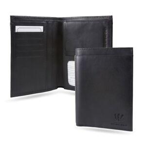 Cincinnati Bengals Black Leather Traveling Bilfold Wallet w/ RFID Blocking- 14