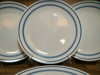 "SET OF 4 - CORNING CORELLE CLASSIC CAFE BLUE - 10 1/4"" DINNER PLATES - BEAUTIFUL"