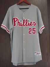 Philles #25 Jim Thome Majestic Authentic MLB Officially Licensed Jersey Sz 52