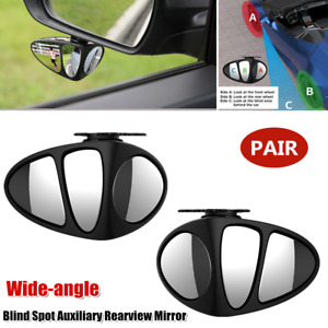 2xCar 360° Rotating Wide-angle Blind Spot Mirror Rearview Side Mirror Auxiliary