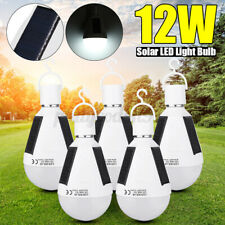 12W Portable Solar LED Light Bulb Emergency Lighting In / Outdoor Camping Lamp