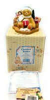 Cherished Teddies 484822 Evan, May Your Christmas Be Trimmed in Happiness - NEW