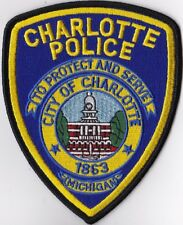 City of Charlotte MI Michigan Police Patch