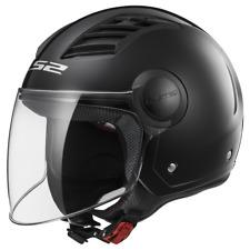 Ls2 Casque Moto Of562 Airflow Gloss Black Long XS