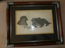 "Disney Fox & Hound Hand Painted Movie Cel Celluloid ""Hunter"" Art Stevens Signed"
