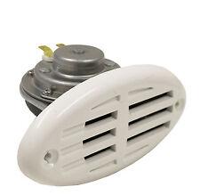 Elektrisches Signalhorn 110Db schwarz & weiß Bootshupe Bootshorn Hupe Horn Boot