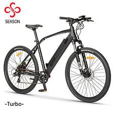 "E-MTB Mountainbike 27,5"" E-Bike Elektrofahrrad Pedelec schwarz 36V 11Ah Akku"