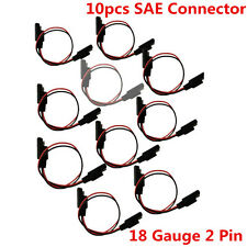 10Pcs 18Gauge 2 Pin Quick Disconnect Audio Polarized Wire Harness SAE Connectors