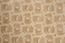 """58"""" Gold & Beige Geometric Chenille Upholstery Fabric - By the Yard"""