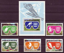 BURKINA FASO 1975;OLYMPIC GAMES;COMPL. SET OF 5 & SS;SC # 384-386,C225-C227;USED