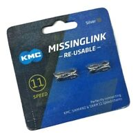 KMC 11s RE-USABLE Missing Link Chains For KMC & Shimano & SRAM, Silver