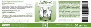 AniForte Zeckenschild für Katzen 60 Kapseln - Natürlicher Schutz durch Hefe