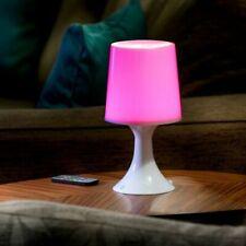Auraglow LED Colour Changing Table Lamp White - 26cm H