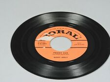 Vintage Buddy Holly, Peggy Sue and Everyday 45 RPM Record