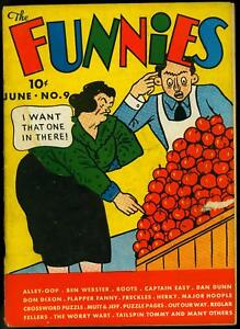 The Funnies #9 1937- Dell Early Golden Age comic- Allep Oop- Captain Easy VG-