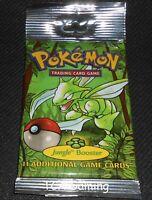 Original JUNGLE SET Booster LONG Pack SEALED 1999 Pokemon Cards - LIGHT WEIGHED