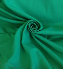 2 Metres Quality Twill Curtain & Dress Fabric Material In Jade Green