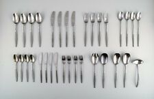"""Jens Quistgaard """"Variation VI"""" complete 4-person cutlery of stainless steel"""