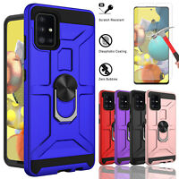 For Samsung Galaxy A51 5G UW A71 5G Case Stand Shockproof Cover/Tempered Glass