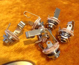 "6 X - Switchcraft #11 1/4"" Mono Input Output Jacks  (Bulk Pack of 6)"
