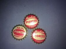 3 Bottle Caps Vintage Pioneer Valley Ginger Ale Soda UnCrimped Massachusetts Pop