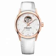 RAYMOND WEIL FREELANCER AUTOMATIC WHITE LEATHER LADIES WATCH 2750-PC5-30081 NEW