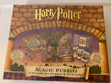 New Harry Potter Magic Puzzles 3 Two-Sided Puzzles (2000, Bepuzzled) Sealed