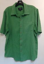 Nat Nast Luxury Mens Size M Green Button Front Shirt