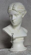 Büste Helga Kopf Figur Frau Stuckgips Skulptur Dekoration Säule Statue Crem 2007