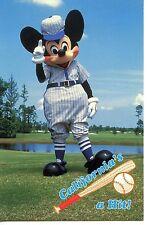 Mickey Mouse Baseball Player-Uniform-Game-California-Modern Disney Postcard