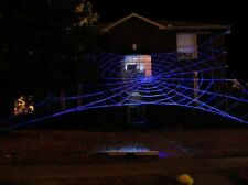 50' MEGA GlowWeb Rope Spider Web Halloween House Giant Yard Prop Decoration